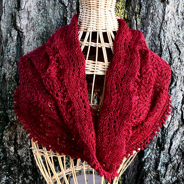 The Makepeace Cowl by Noelle Davis is a Great Project For First-Time Lace Knitters