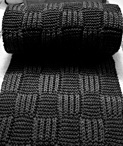 Heres The Perfect Knit For Him Briochegarter Stitch Checkerboard