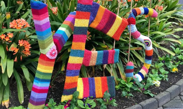 Yes! Pro Marriage Equality Yarn Bomb Spotted in Hobart