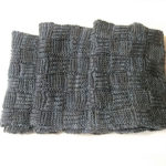 Here's The Perfect Knit For Him! Brioche/Garter Stitch Checkerboard Scarf – FREE Pattern