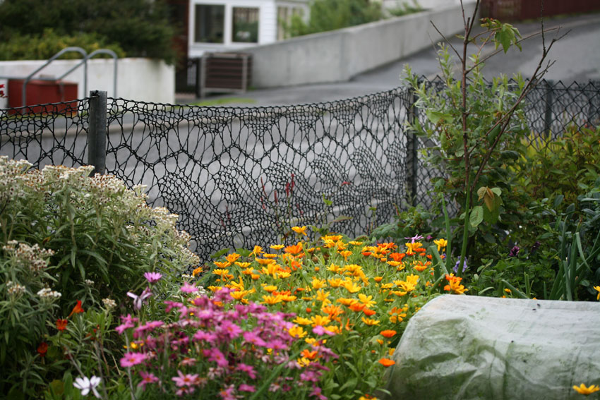 Anne Eunson Loves Lace So She Knit Herself a Garden Fence and It Looks Gorgeous
