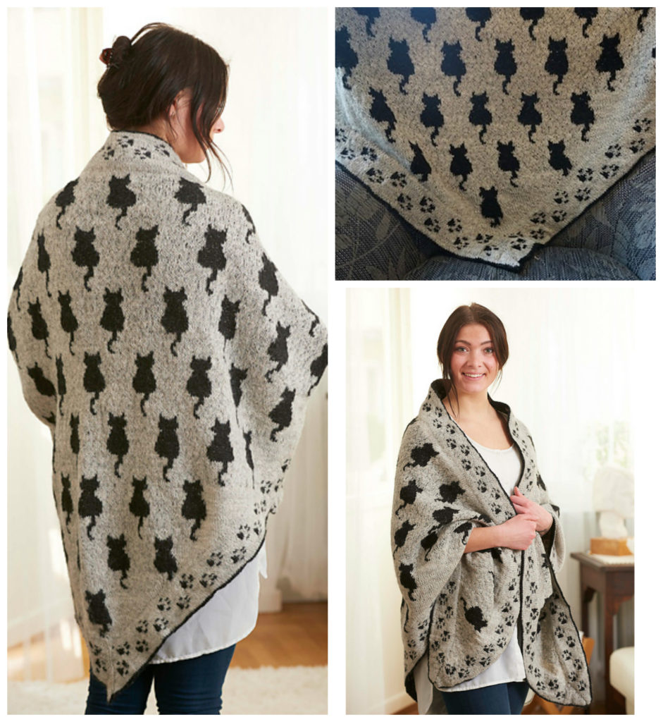 Knit a Cat Shawl That's Pawsitively Purrrfect - The Pattern is Free!