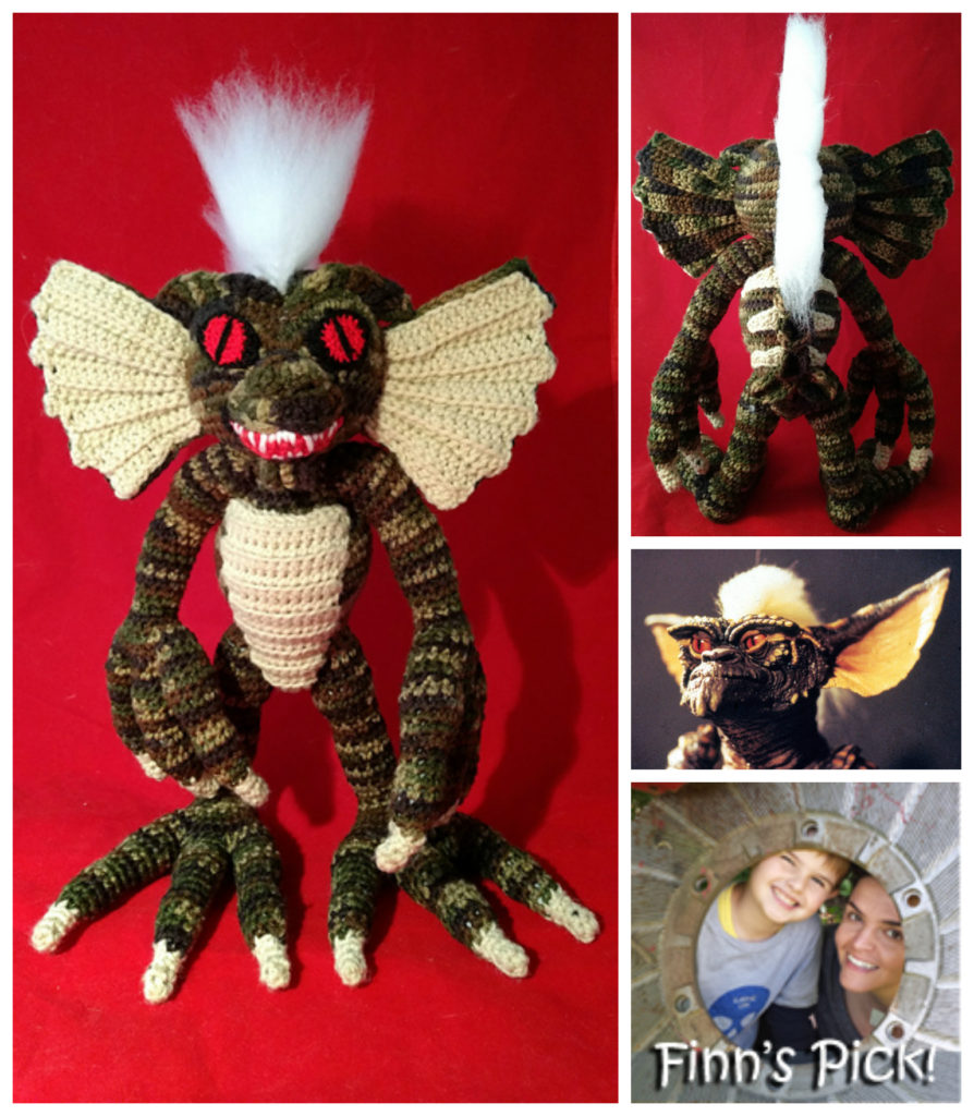 Crochet Scary Stripe From the Gremlins, Mohawk Included!