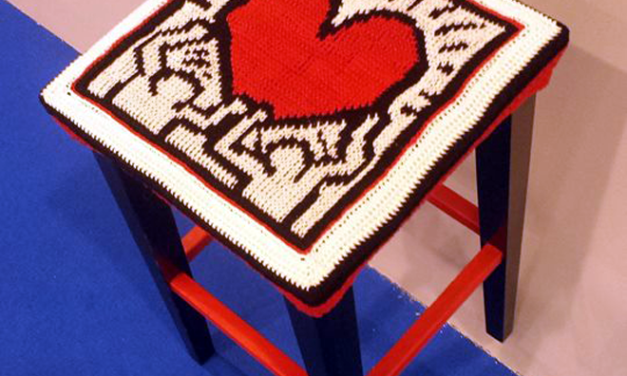 A Tribute to Keith Haring in Tunisian Crochet
