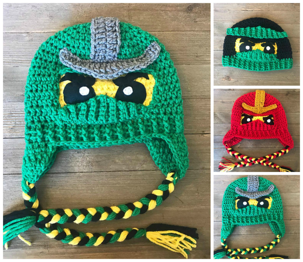 Crochet a Ninjago Helmut or Hat - Pattern Comes In Two Fun Styles!