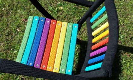 Behold the Rainbow Chair – This Is How You Yarn Bomb a Chair!