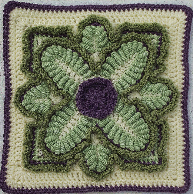 Crochet a Kale Block for National Kale Day - So Pretty!