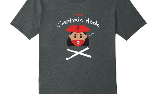 The *Real* Captain Hook T-Shirt for Crocheters
