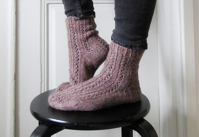 Knit a Pair of Girl Friday Socks, Makes a Great Gift and the Pattern is FREE!