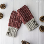 Crochet a Pair of Malia Wrist Warmers by Rebecca Langford of Little Monkeys Crochet – FREE Pattern!