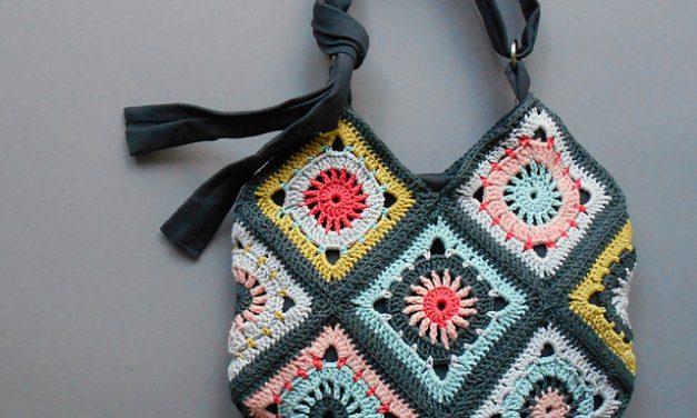 Beautiful Boho Granny Square Bag – Not Necessarily For The Beach!