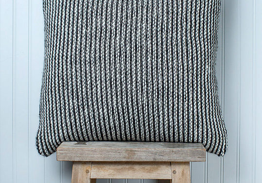 Gorgeous Graphic Striped Pillow Cover Knit in Stockinette Stitch – So Sophisticated!