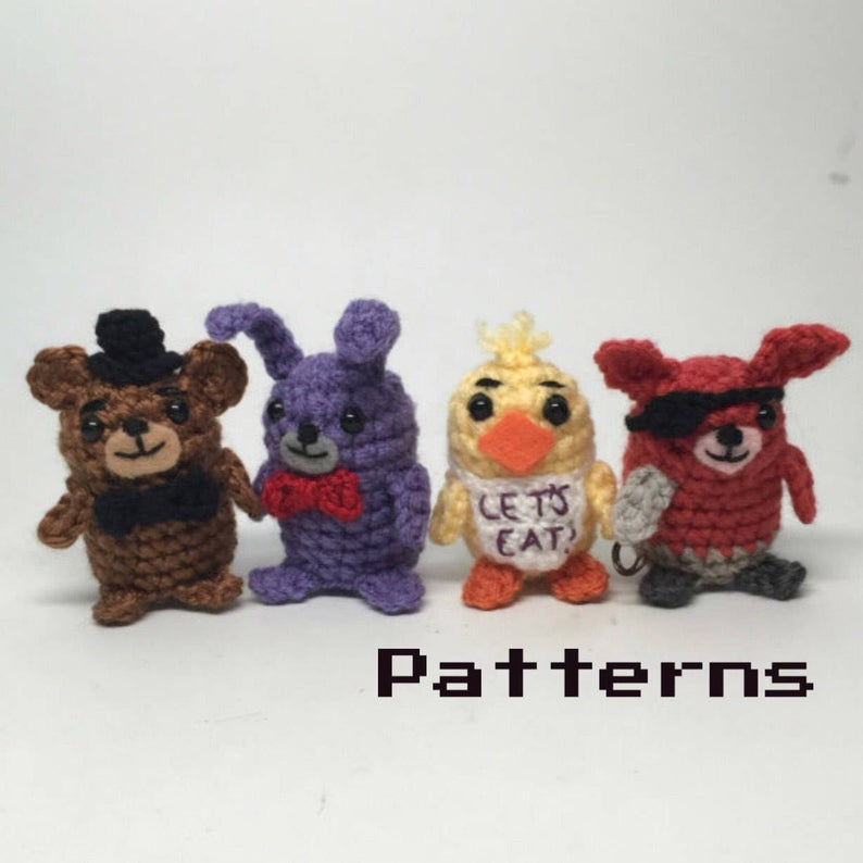 My Favorite Five Nights at Freddy's Patterns ... Amigurumi, Hats, and More!