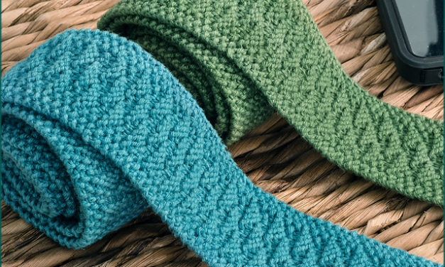 This Knitted Okehampton Tie is Begging To Be Knit By You … For You, or Someone You Love!