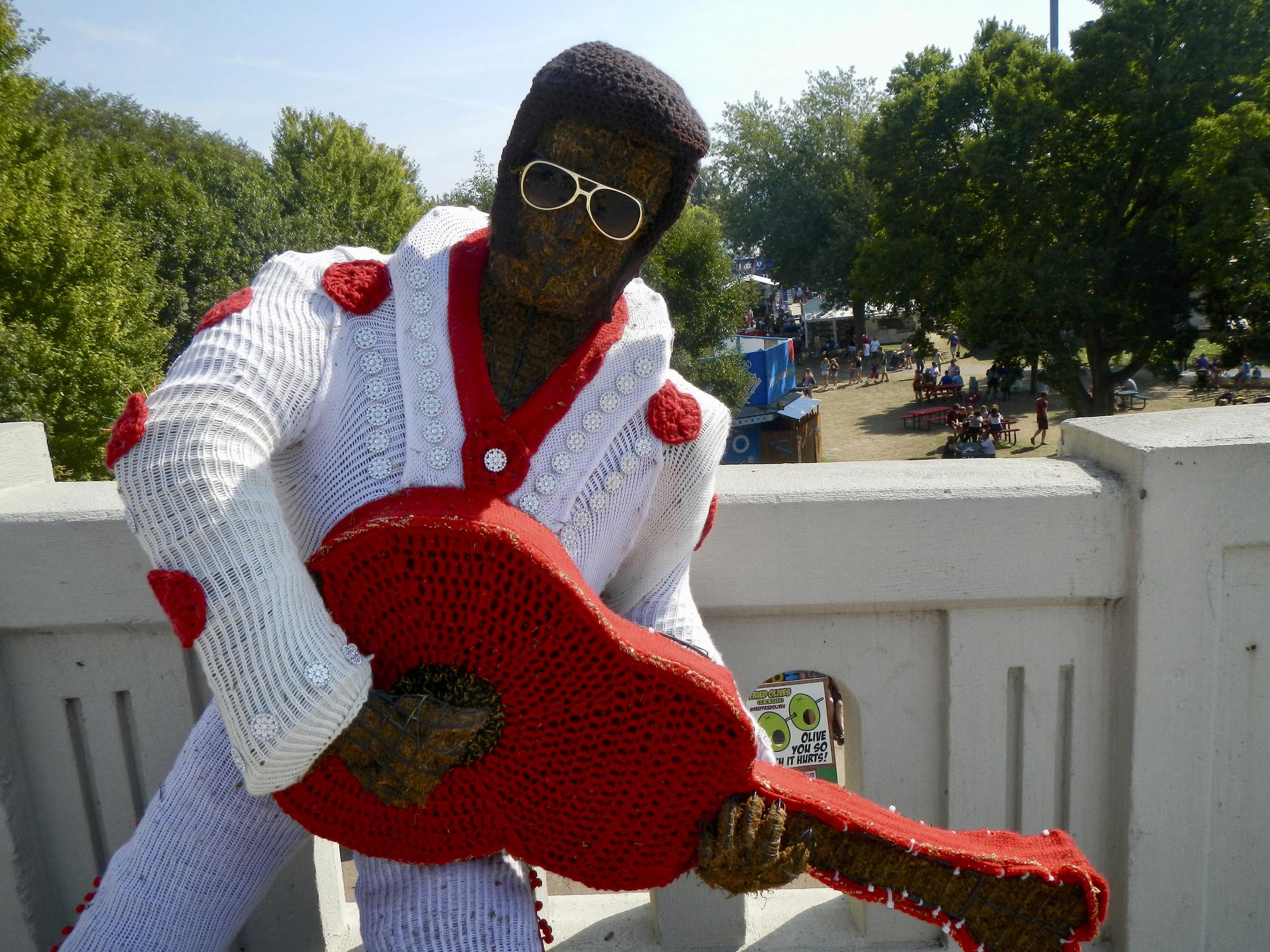 Elvis Presley Yarn Bomb