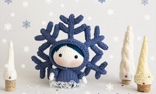 Knit Tanoshi SnowFlake Doll by Tatyana Korobkova – Perfect For the Season!