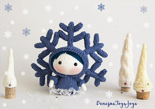 Knit a Tanoshi SnowFlake Doll by Tatyana Korobkova – Perfect For the Season!