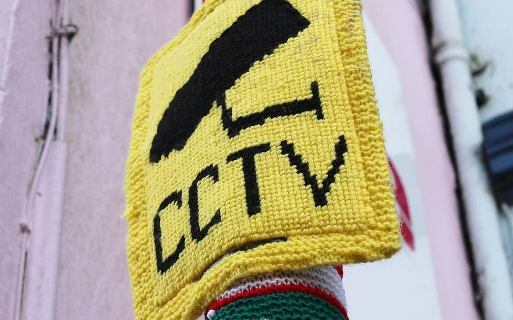 CCTV Yarn Bomb Spotted in Haverfordwest