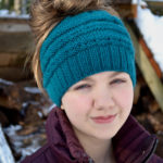 The Best Free Knit Ponytail Hat Patterns (Messy Bun Beanies) On Trend For The 2017-2018 Season!