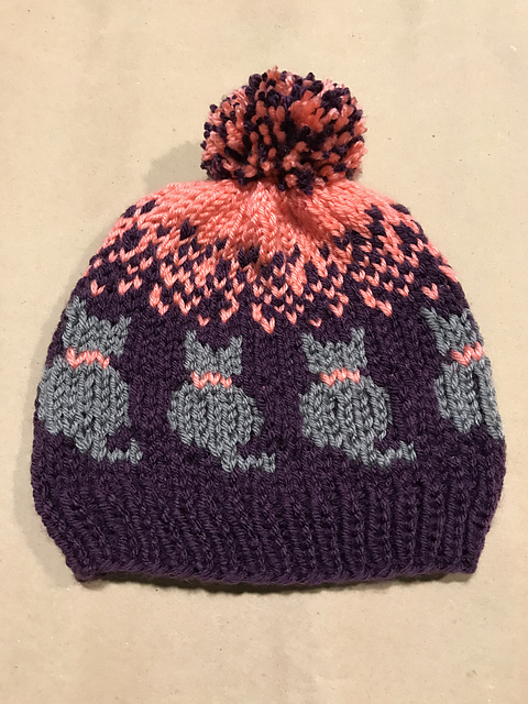 Knit a Purrrfect Cat-tastic Hat ... FREE Pattern by Christina Ross