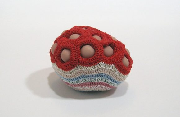 Emily Barletta's Abstract Stitches and Sculptural Crochet Stand Up to the Test of Time