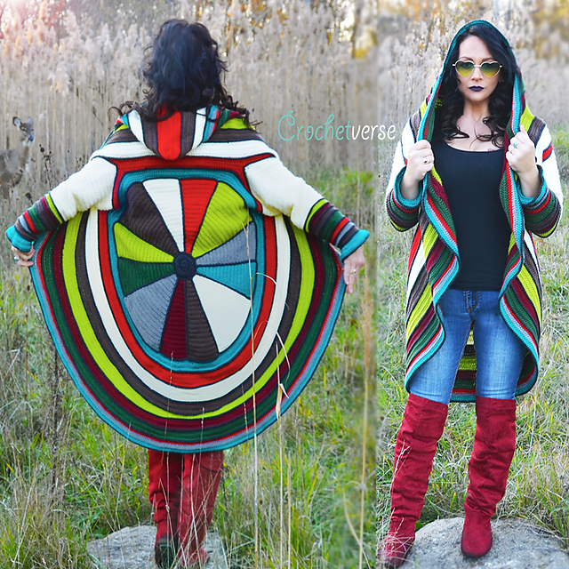 Must-Make: Spectacular Splendor Circle Coat, Crochet Pattern By Stephanie Pokorny