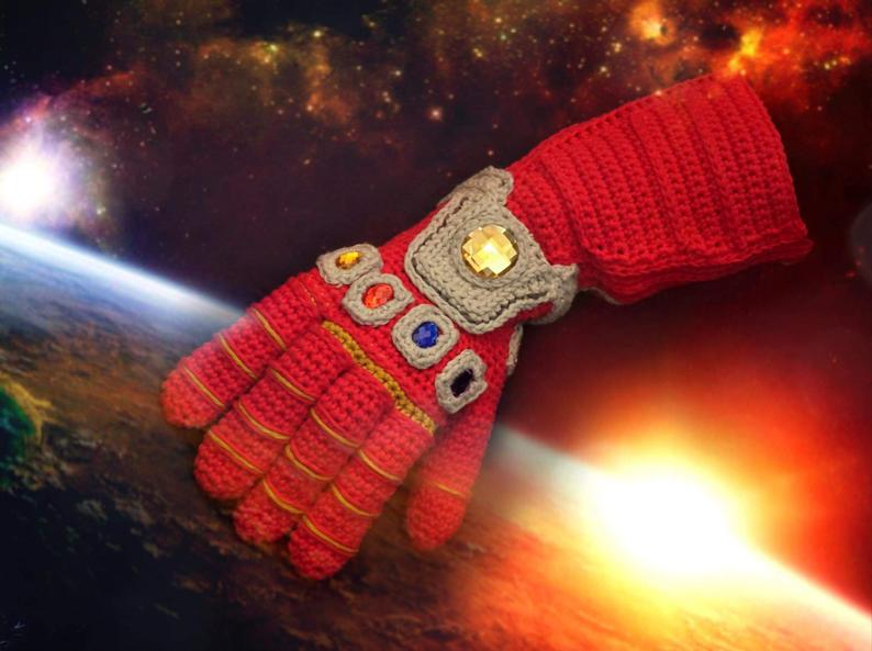 Knit or Crochet Your Own Infinity Gauntlet - Patterns Available!