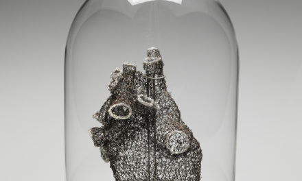 Anne Mondro Crocheted an Anatomically Correct Heart Using 26-Gauge Steel and Copper