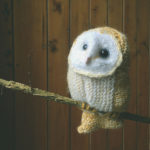 Knit a Tiny Winter White Barn Owl