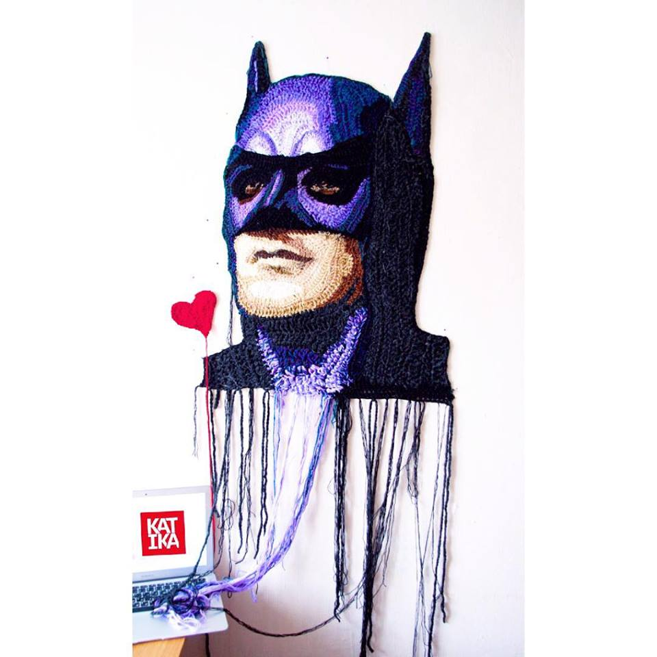 Katika's Crochet Portrait of Batman Has No Limits - A Must-See!