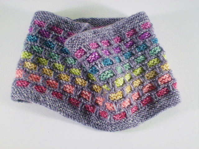 You Need This Rainbow Ribbon Cowl In Your Life, Free Knit Pattern By Frankie Brown