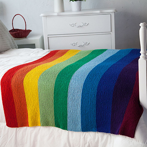 Anyone Can Knit This Rainbow Blanket, A Perfect Project For Beginners – FREE Pattern!