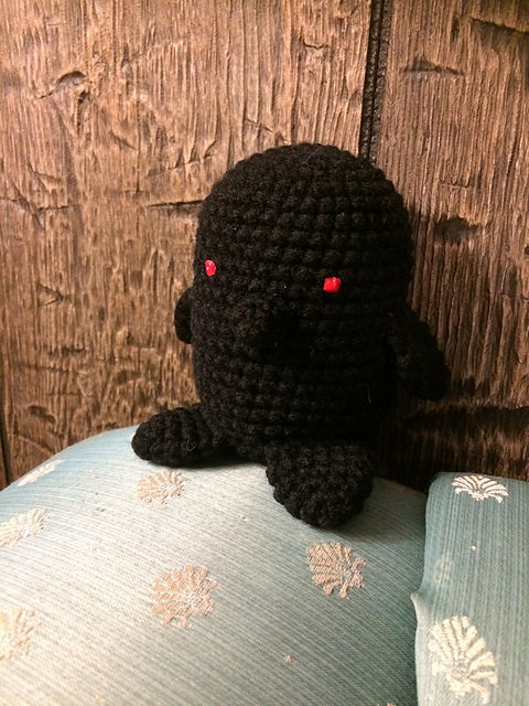 Crochet Your Own Gripples the Obsidian Penguin From The Unexpectables