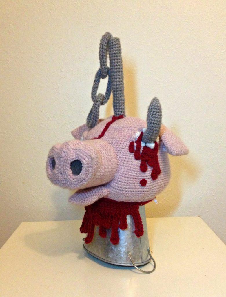Decapitated Pig's Head Purse