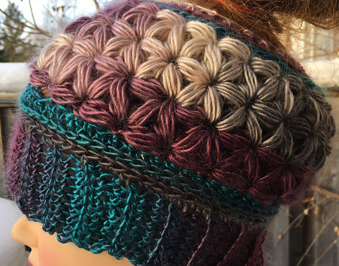 Crochet This Gorgeous Unforgettable Stars Messy Bun Hat With The Unique Jasmine Star Stitch