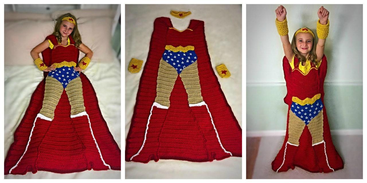 Crochet a Wonder Woman Blanket – It's Unlike Any Other You've Seen – So Cool!
