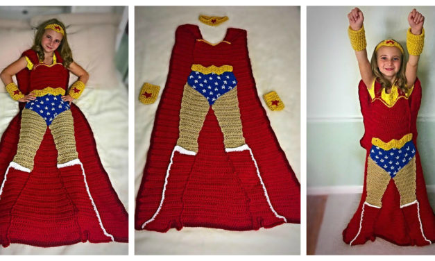 Crochet a Wonder Woman Blanket – It's Unlike Any Other You've Seen – So Cool!
