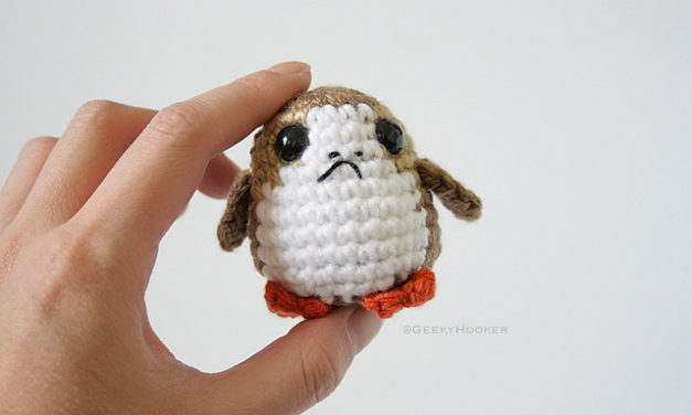 Crochet a Cute Porg From Star Wars: The Last Jedi, Pattern By The Geeky Hooker