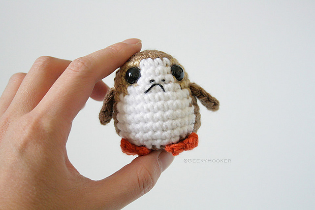 Amigurumi Star Wars Patterns : Crochet a cute porg from star wars: the last jedi pattern by the