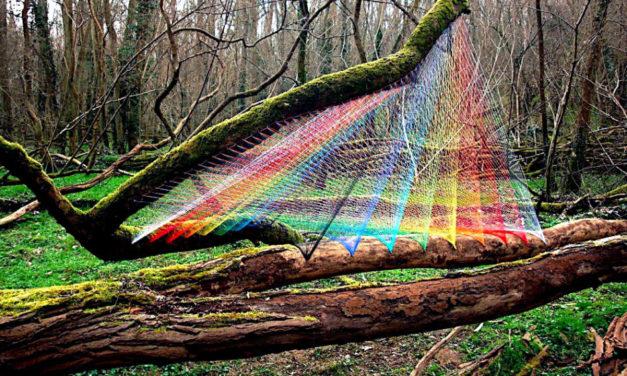 Sebastien Preschoux's Breathtaking Thread Installations