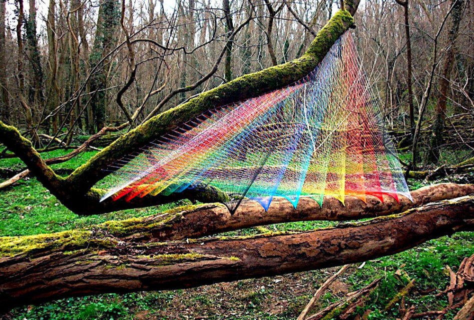 Sebastien Preschoux's Breathtaking Thread Installations