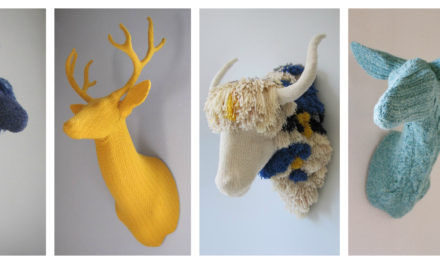Rachel Denny Creates Magnificent Domestic Trophies Knitted With Luxurious Alpaca and Yak Fibers