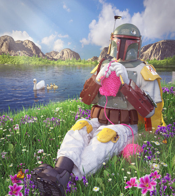 Bounty Hunter By Day, Knitter By Night … The Secret Life of Boba Fett