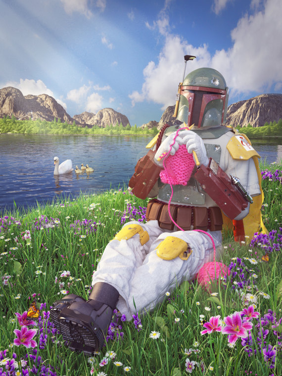 Bounty Hunter By Day, Knitter By Night ... The Secret Life of Boba Fett