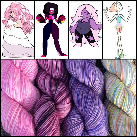 Crystal Gems Inspired Yarn