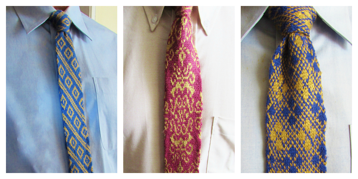 Check Out This Trio of Knitted Ties - Patterns Designed By Deborah Tomasello