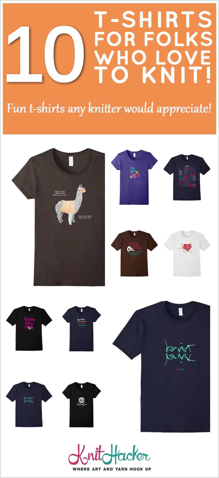 best t-shirts for knitters