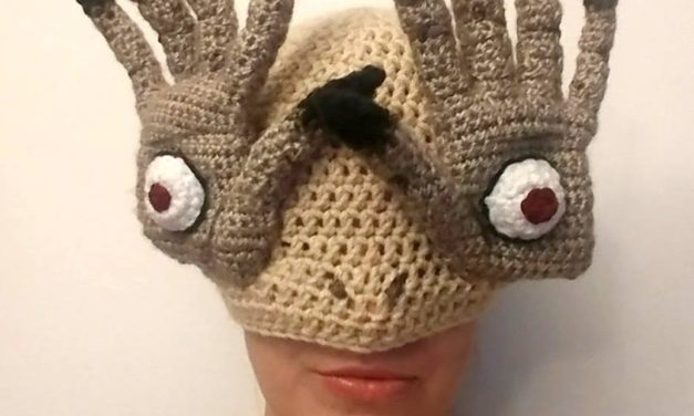 Pale Man Hat – Bitteroclock Crocheted This Amazing Hat Inspired by Pan's Labyrinth