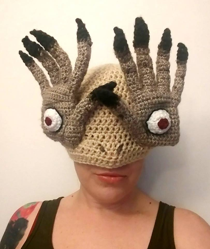 Pale Man Hat - Bitteroclock Crocheted This Amazing Hat Inspired by Pan's Labyrinth