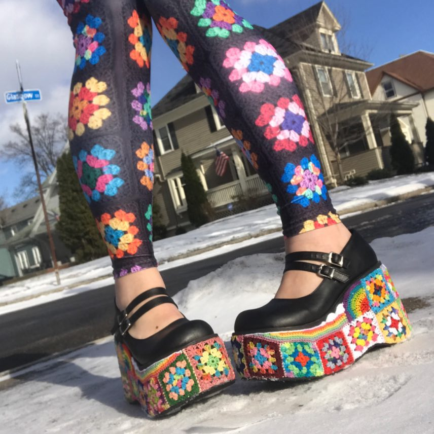 These Granny Square Platform Shoes Are Real and Therefore 100x Better Than Unicorns ...